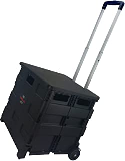 Elama Home Heavy Duty Utility Carry All Easy Folding Cart with Lid