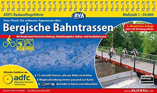 ADFC-Radausflugsführer Bergische Bahntrassen 1:50.000 praktische Spiralbindung, reiß- und wetterfest, GPS-Track Download: Mit Bergischem Panorama-Radweg, ... - jetzt mit Knotenpunkten (German Edition