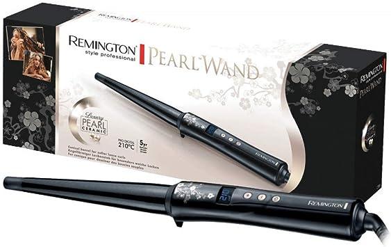 Oferta amazon: Remington Conique Pearl CI95 - Rizador de pelo, Cerámica con Perla, Punta Fría, Digital, Negro