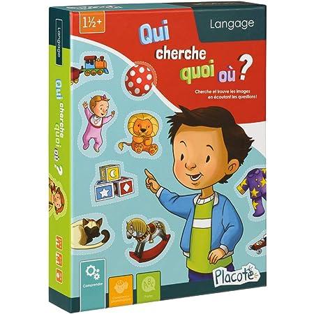 Placote Qui Cherche Quoi Ou Jeu Educatif 1 An A 3 1 2 Ans Pla9 Amazon Fr Jeux Et Jouets