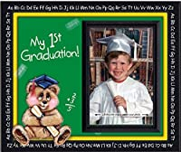 Kindergarten Preschool Graduation Picture Frame | Affordable Colorful and Fun | Holds 3.5 x 5 Photo | Keepsake Gift for Parents | Innovative Front-Loading Photo Design | Bear Theme [並行輸入品]