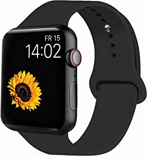 VATI Sport Band Compatible with Apple Watch Band 44mm 42mm 40mm 38mm, Soft Silicone Sport Strap Replacement Bands Compatible with iWatch Apple Watch Series 4/3/2/1 S/M M/L