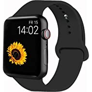 VATI Sport Band Compatible with Apple Watch Band 44mm 42mm 40mm 38mm, Soft Silicone Sport Strap...