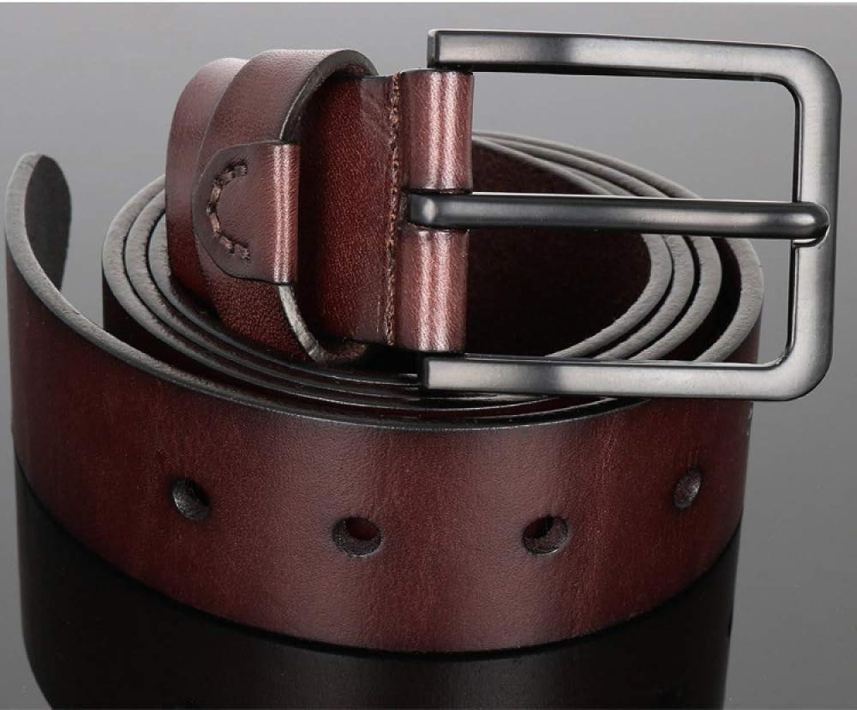 DENGDAI Needle Buckle Belt Adult Men's Casual Belt Alloy Buckle Scrub Pants Belt