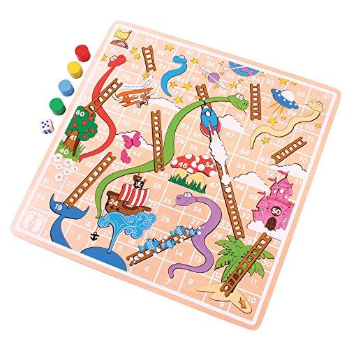 Bigjigs Toys Jeu de L'Échelle | Jouet pour Enfant | Cadeau Enfant | Joeut Traditionnel | Apprendre en Jouant