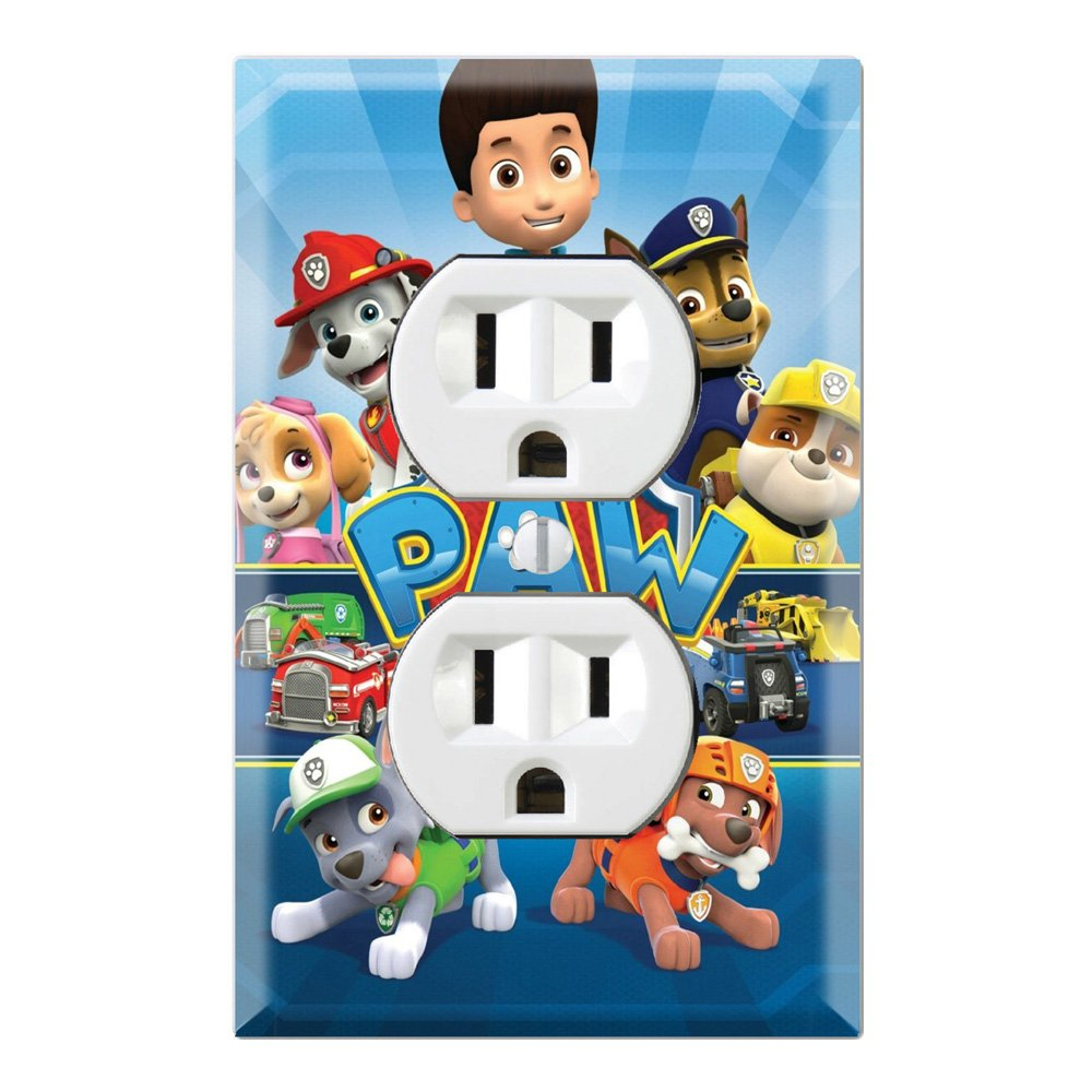Duplex Wall Outlet Plate Décor Wallplate Paw Patrol Ryder Marshall Chase Zuma Skye