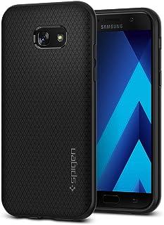 Spigen Funda Liquid Air Compatible con Samsung Galaxy A5 2017, Flexión Duradero y Diseño de Fácil Agarre - Negro Mate