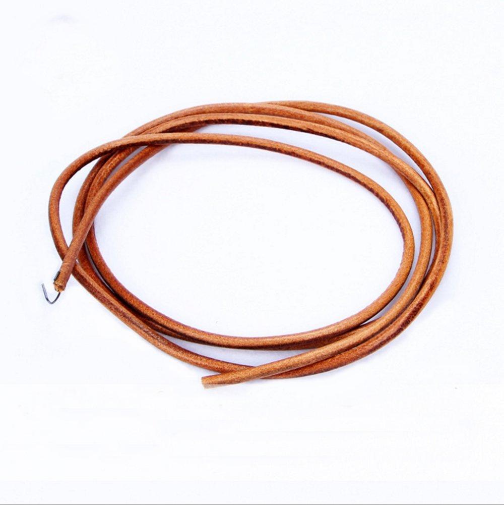 cnfq cordón de piel Para Máquina De Coser enlace de piel 4 mm 5 mm 6 mm, marrón, 5mm.: Amazon.es: Hogar