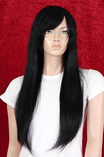 elige tu favorito Pelucas Pelucas Pelucas mujeres Largo negro Cabello Humano Flequillo Alise  producto de calidad