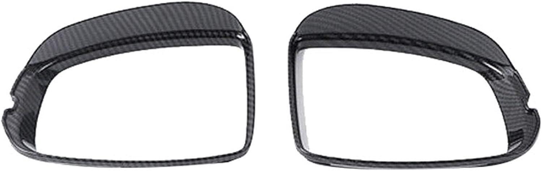 LYSHUI Car Carbon Fiber Rearview Mirror Sun Guard Rain Eyebrow Cover Frame for Honda Fit Jazz 2014-2020
