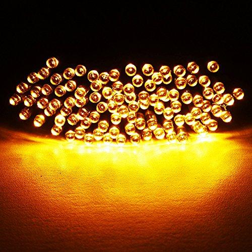 Funciona con annengjinsolar 100 LED luces para instalación en exteriores, Garden, Home, perfecto para fiestas de Navidad Luz (multi-color)