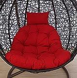 LUMBAR Sedia sospesa Swing Cestino Culla Nido Stuoia di Cesto Cuscino per Sedia a Dondolo Adulto sedie in Vimini Coperta Balcone Pad(Senza la Sedia)-F 105x105cm(41x41inch)