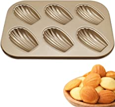 Coxeer 6-Cavity Madeleine Pan DIY Non-stick Seashell Shape Madeleine Mold Kitchen Baking Mold