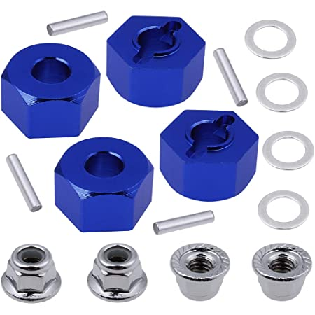 Hobbypark Flange M4 Nylon Lock Nuts for 1//10 Scale RC Car Traxxas Slash 4x4 2WD Stampede VXL Rustler VXL HPI Redcat Axial Racing 8-Pack