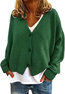 Cardigan Women Tops Women Sexy Casual Long Sleeve Loose Buttons Women Tops Autumn New Solid Color Simplicity All-Match Kni...
