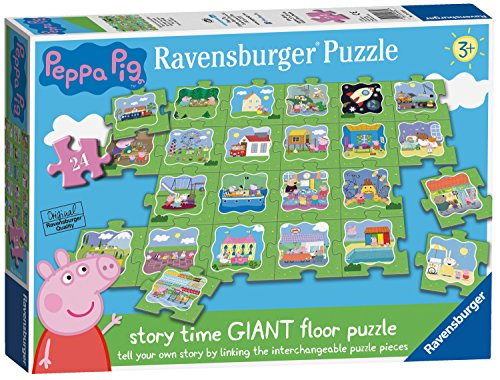 Ravensburger- Peppa Pig-Tell a Story-Puzzle da 24 Pezzi, 5338