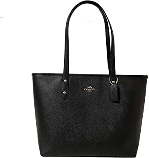 Coach Women's Crossgrain Leather City Zip Tote