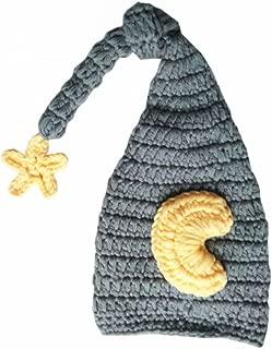 Pinbo® Newborn Baby Crochet Photo Prop Moon Star Hat Sleepy Time Hat Elf Hat