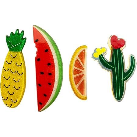 Orange strawberries and flowers mini snap clip no slip grip baby snap clip baby hair clip
