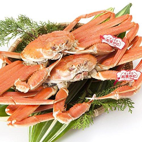 日本海市場 タグ付き 特上松葉ガニ(ズワイガニ姿) 大サイズ2枚(茹で1.6kg前後)「本物」の松葉ガニを産地直送でお届けします