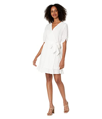 1.STATE Wrap Front Mini Dress