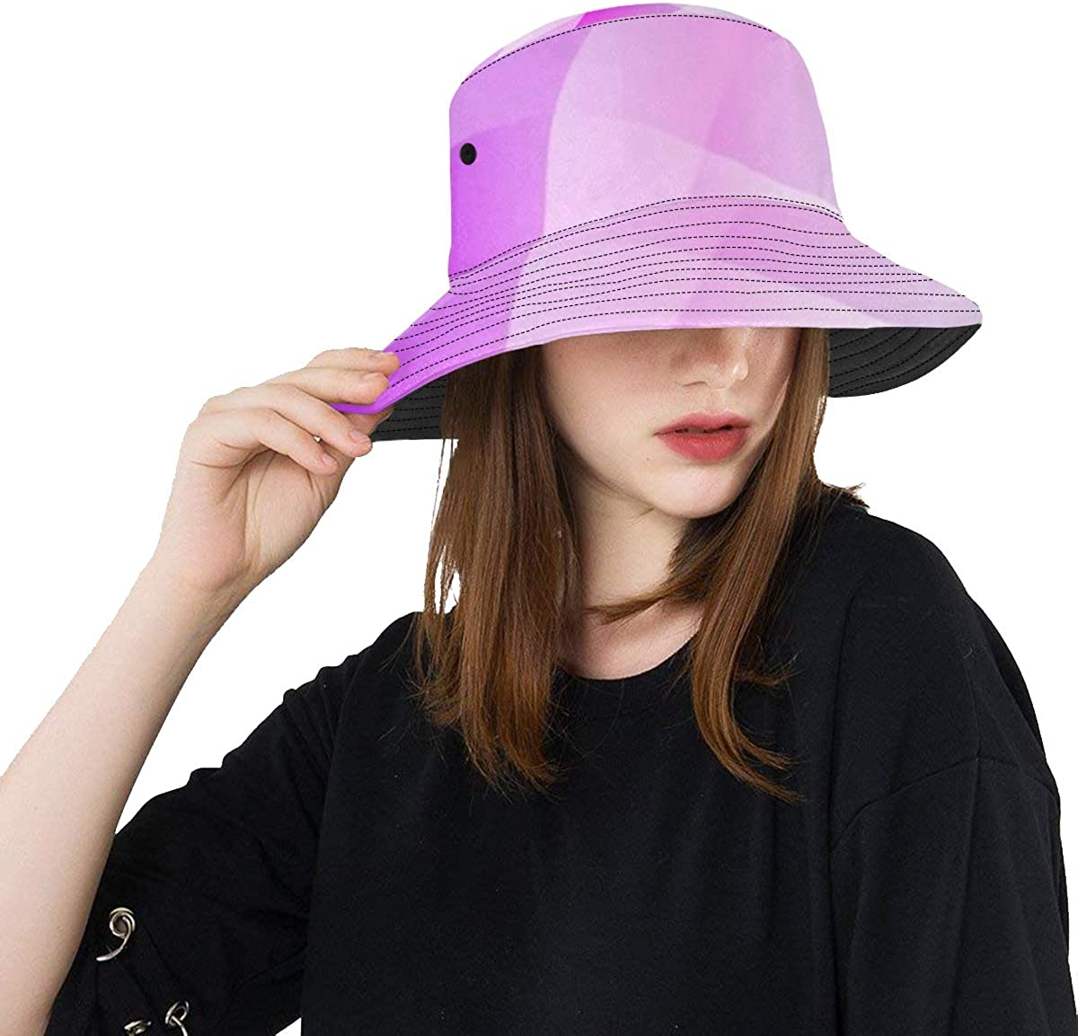 Unique Bucket Hat Geometric 25% OFF Max 43% OFF Wave Smooth Colorful Abstract Shape