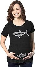 Maternity Mama and Baby Shark Pregnancy Tshirt Cute Viral Song Tee