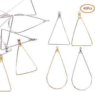 Fciqven 40Pcs Teardrop and Triangle Beading Hoop Earring Finding Jewelry Finding for Earring Jewelry Making