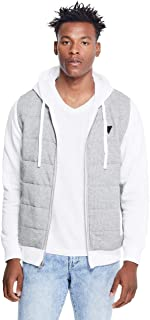 GUESS Factory Men's Luther Quilted-Panel Hoodie