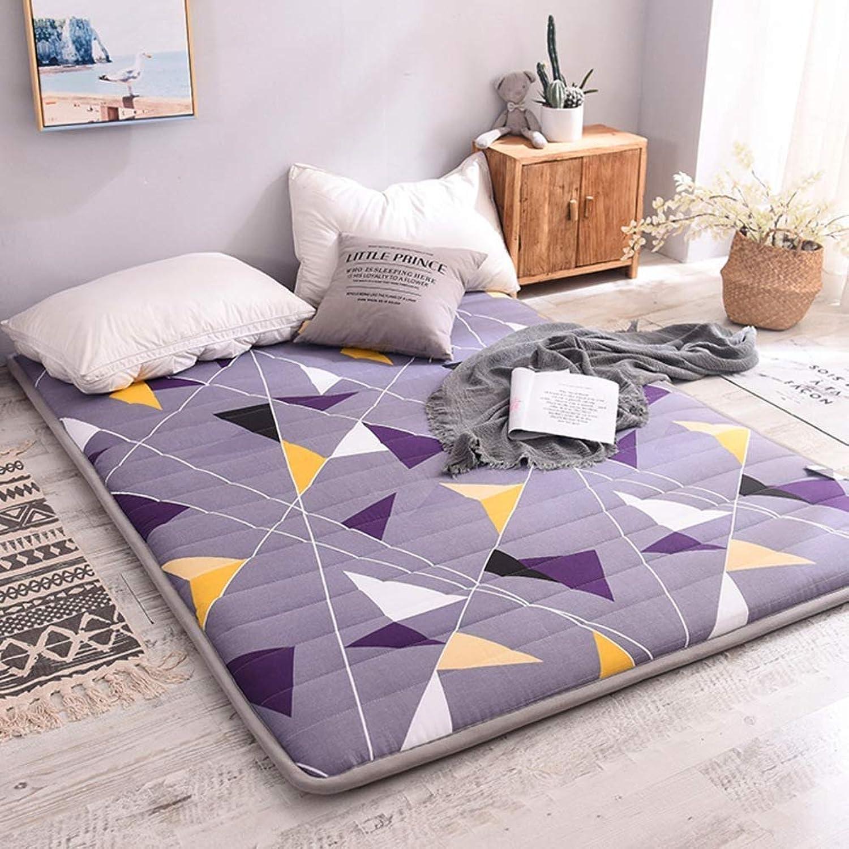 Mattress Futon Mattress Topper Cotton Tatami Floor mat Anti-Slip Folding Mattress Breathable Skin-Friendly mat Sleeping pad (color   Triangle, Size   120x200cm(47x79inch))