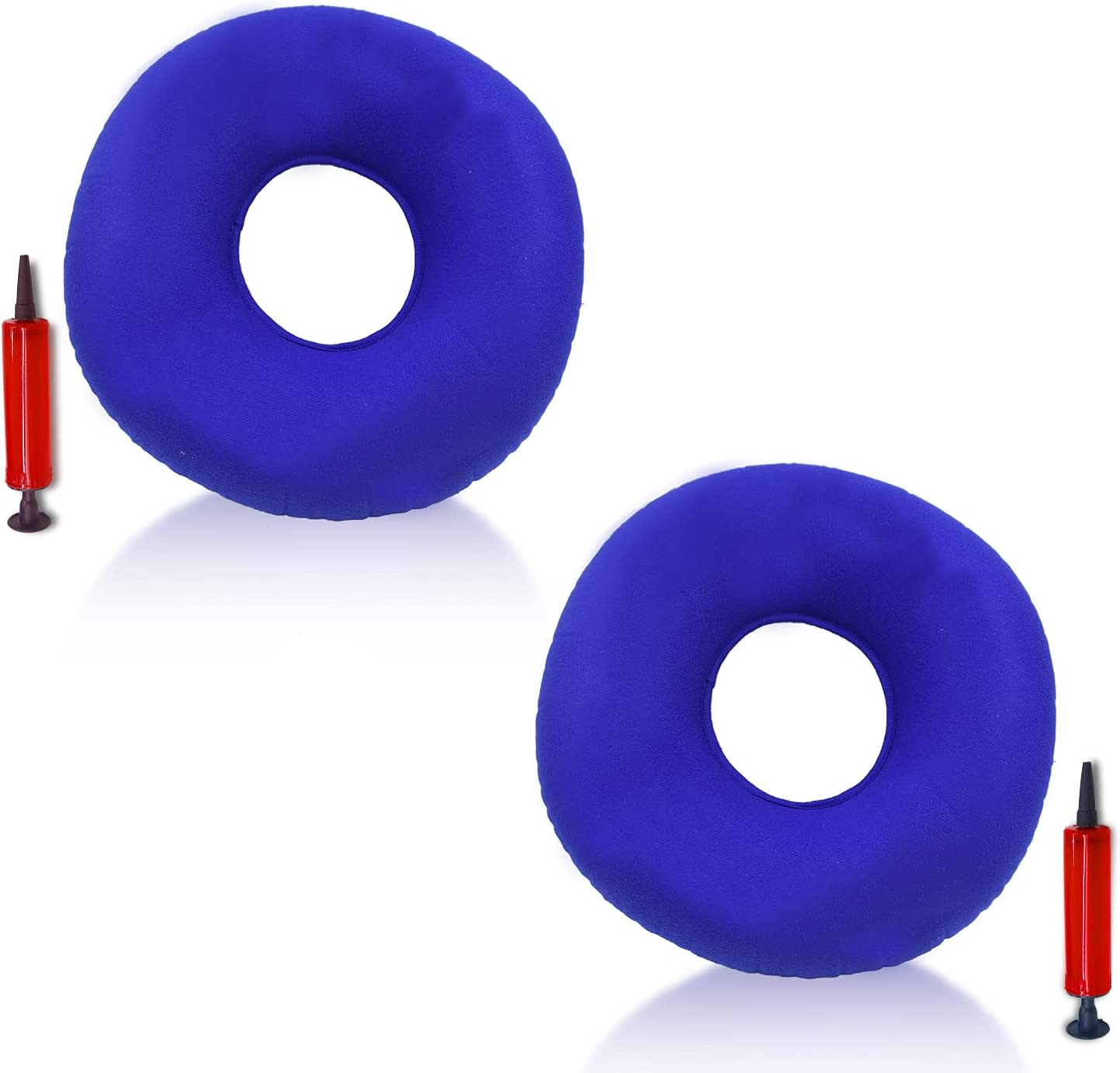 2 Pack Inflatable Ring Cushion Award with Pump Hemorrhoid A Pill Max 51% OFF Seat