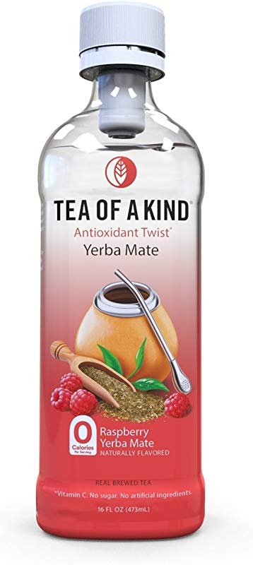 Tea Of A Kind Raspberry Yerba Mate Tea Natural Real Brewed Yerba Mate Black Tea Zero Calorie Antioxidant Rich 16 Oz Pack Of 12