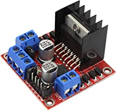 Hemobllo L298N Stepper Motor Driver Controller Board Bridge Module Dual H for Arduino Electric Projects 5-35V (Black)