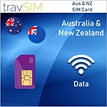 travSIM Three UK Prepaid Australia & New Zealand SIM Card 5GB Data Valid for 30 Days – Free Roaming in 71+ Destination Countries Including Europe