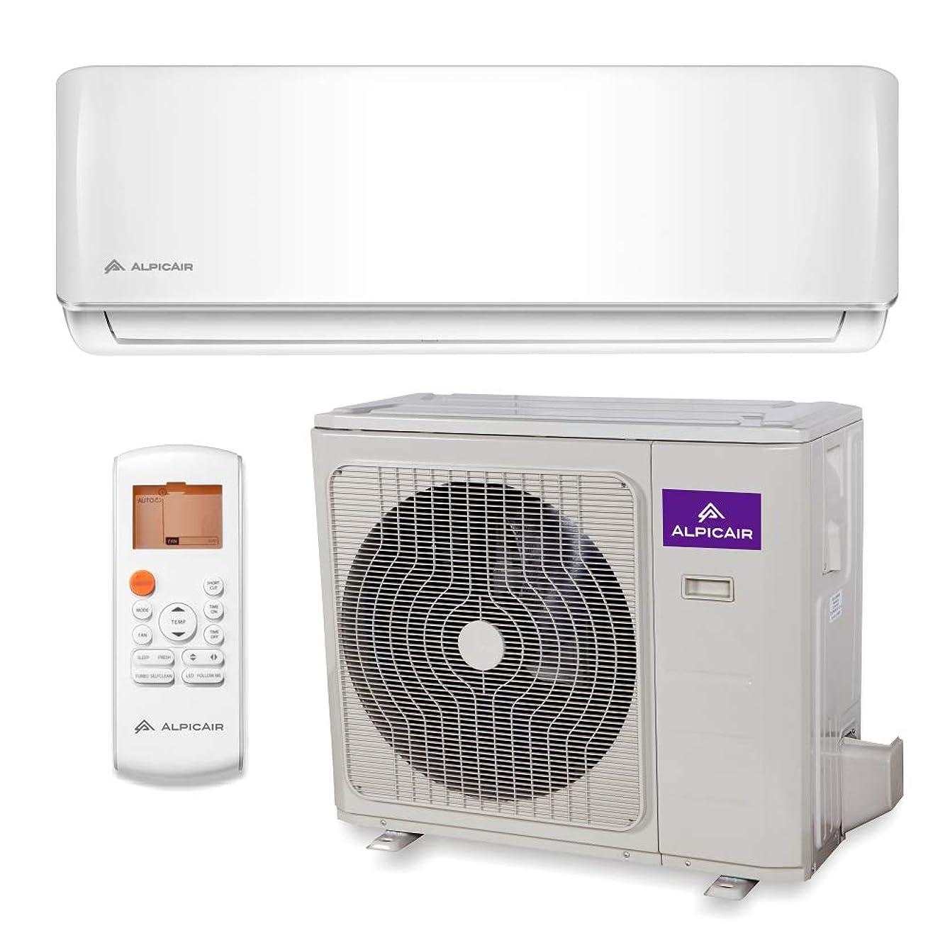 AlpicAir 12,000 BTU Ductless Mini Split Air Conditioner System Inverter Heat Pump