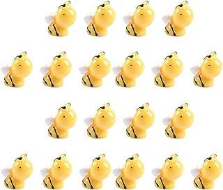 HEMOTON Bijenfiguren, miniatuur, bijen, 20 stuks, hars, miniatuur, dierfiguren, insecten, speelgoed, micro-landschap, bons...