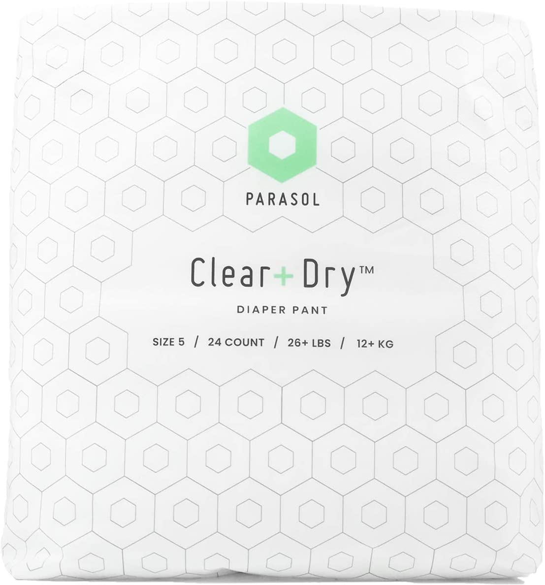 Parasol Clear+Dry Diaper Pants, Disposable, Tear Sides to Open,