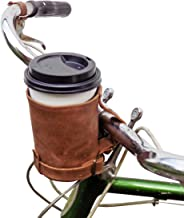 Hide & Drink, Cruzy Leather Bike Cup Holder for Commuters, Bikers, Cyclers, City Nomads, Cycle Fan, Urban Nomad Handmade :: Bourbon Brown