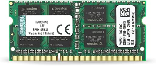 Kingston Technology 8GB 1600MHz DDR3 Non-ECC CL11 SODIMM PC Memory (KVR16S11/8)