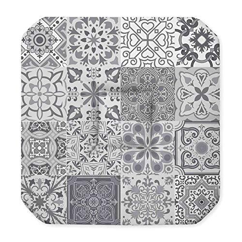 Sitzkissen, 4 Klappen, 36 x 36 x 3,5 cm, persisch, Grau