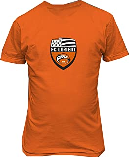 Katrina M Vaughn FC Lorient France Soccer Football T Shirt,Orange,Large