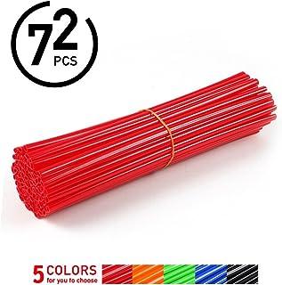 72Pcs Spoke Skins,Motorcycle Street Bike Wheel Spoke Wraps Skins Coat Trim Cover Pipe ( Color : Red )