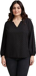 Fiorella Rubino : Blusa a Pois Donna (Plus Size)