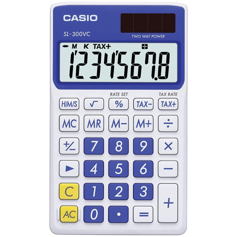 宿メモ探すCasio sl300vcbesihソーラーウォレット型電卓8桁表示付き(ブルー) Casio sl300vcbesih Solar Wal