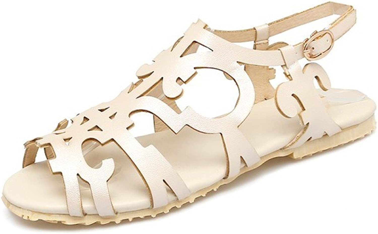 YU&Xin-Summer Flat Sandals Exposed Large Numbers of Female Students shoes