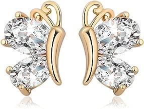 YAZILIND Mode Charme Elegante CZ kristall Schmetterling Ohrringe vergoldung Schmuck Ohrringe Für Frauen Mädchen Geschenk