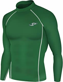 JustOneStyle New 163 Green Skin Tights Compression Base Layer Long Sleeve Mens T Shirt