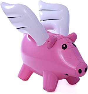MadGuz Inflatable Flying Pig   21 by 24 inches   Great size and durable (can last for years)