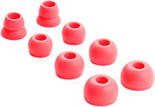 Replacement Silicone Ear Tips Earbuds Buds Set for Powerbeats 2 Wireless Beats by dre Headphones,4 Pairs (Red)