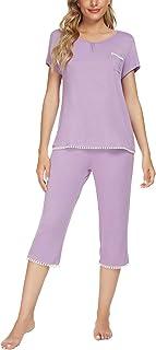 Pijama de verano para mujer, de manga corta, pirata, ropa de noche, ropa de dormir